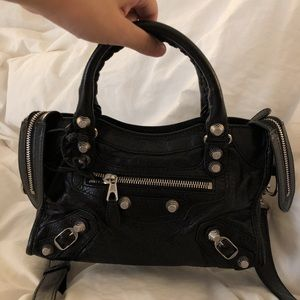 87df73f19fcdfd Balenciaga Bags - balenciaga Classic Silver Nano City Black